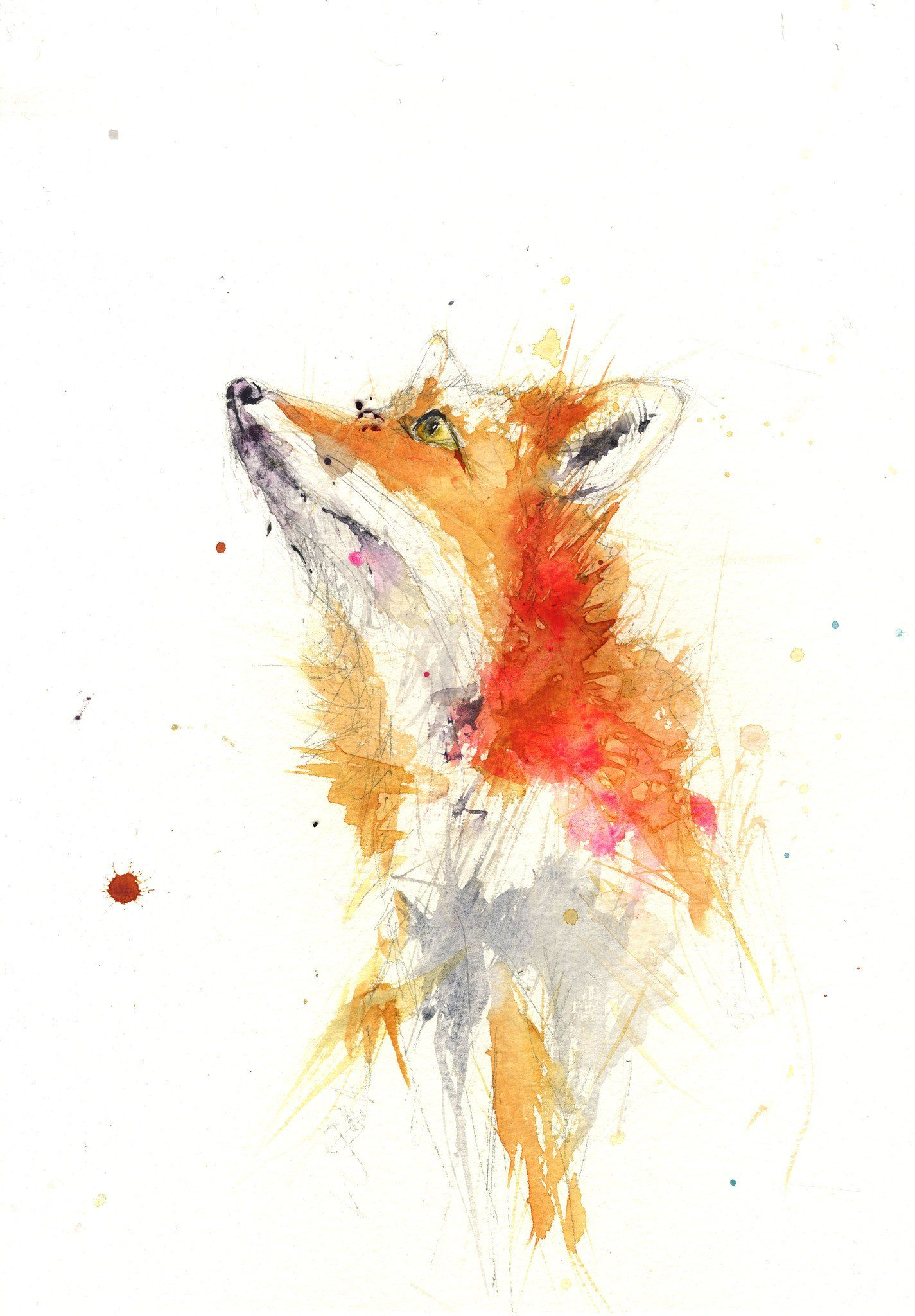 JEN BUCKLEY signed LIMITED EDITON PRINT of my original red SQUIRREL