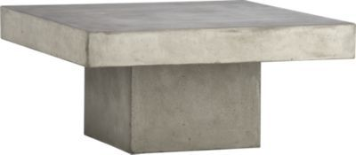 Attirant Element Coffee Table | CB2 $399 Love This Table, But So Afraid Of Trying To  Move A Giant 150 Lb. Slab Of Concrete When I Want To Clean The Rug!