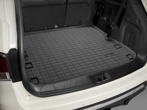 Black WeatherTech Custom Fit Cargo Liners for Cadillac CTS