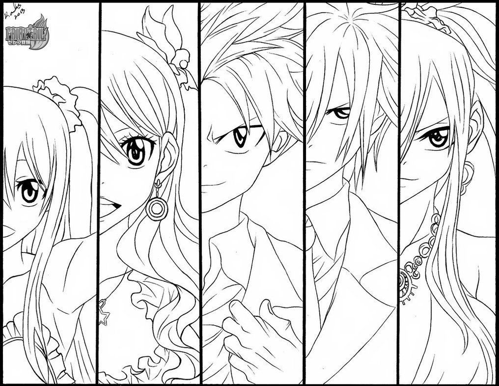 Fairy Tail Coloring Pages | kleurplaat | Pinterest | Fairy, Anime ...