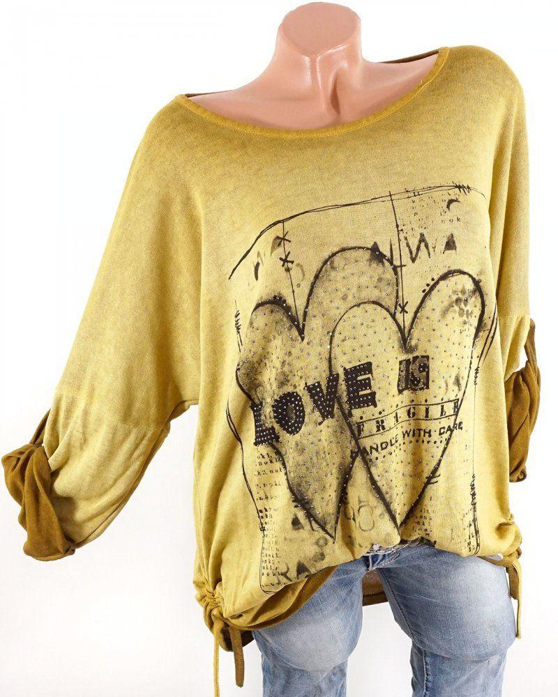 Feinstrick  pullover mit Strass Print und Vintage Farbverlauf40-44   modefürfrauen  fashion   db9ef615c3