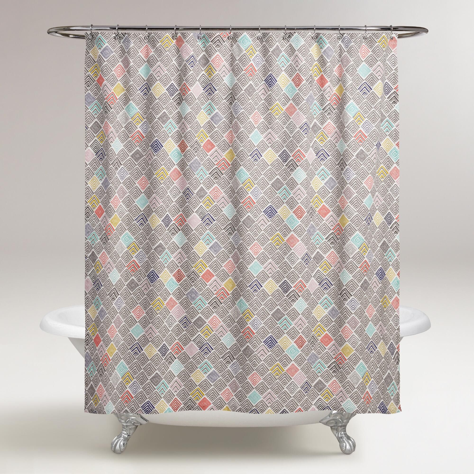 Easily Add A Pop Of Graphic Color To Any Bathroom With This