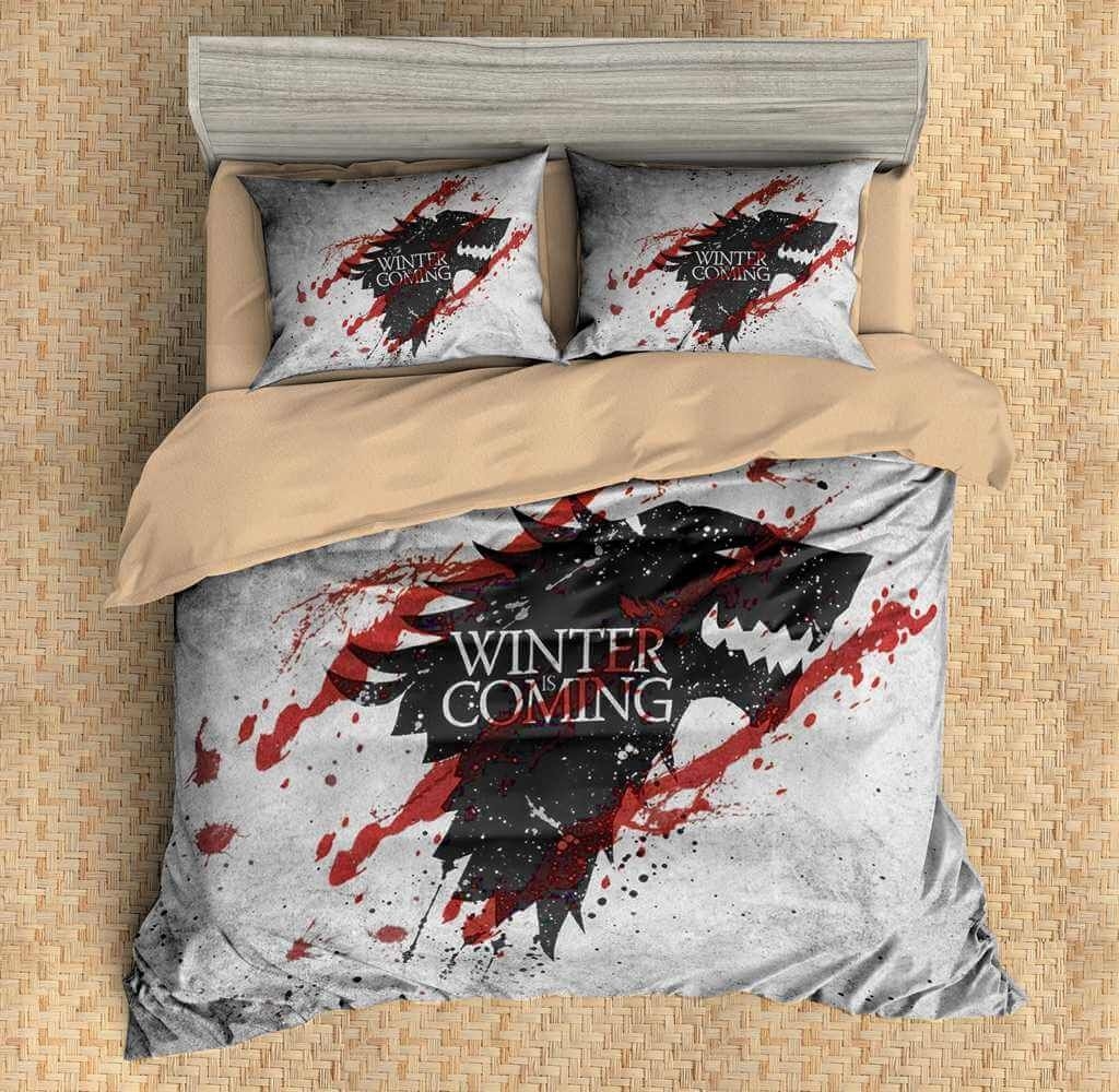 3d customize game of thrones bedding set duvet cover set bedroom set bedlinen movie duvet. Black Bedroom Furniture Sets. Home Design Ideas