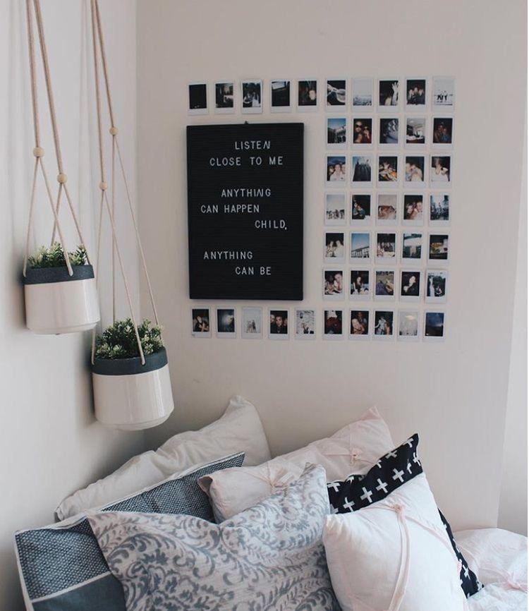 Tumblr room bedroom desk minimalist minimalism aesthetic white black also rh in pinterest