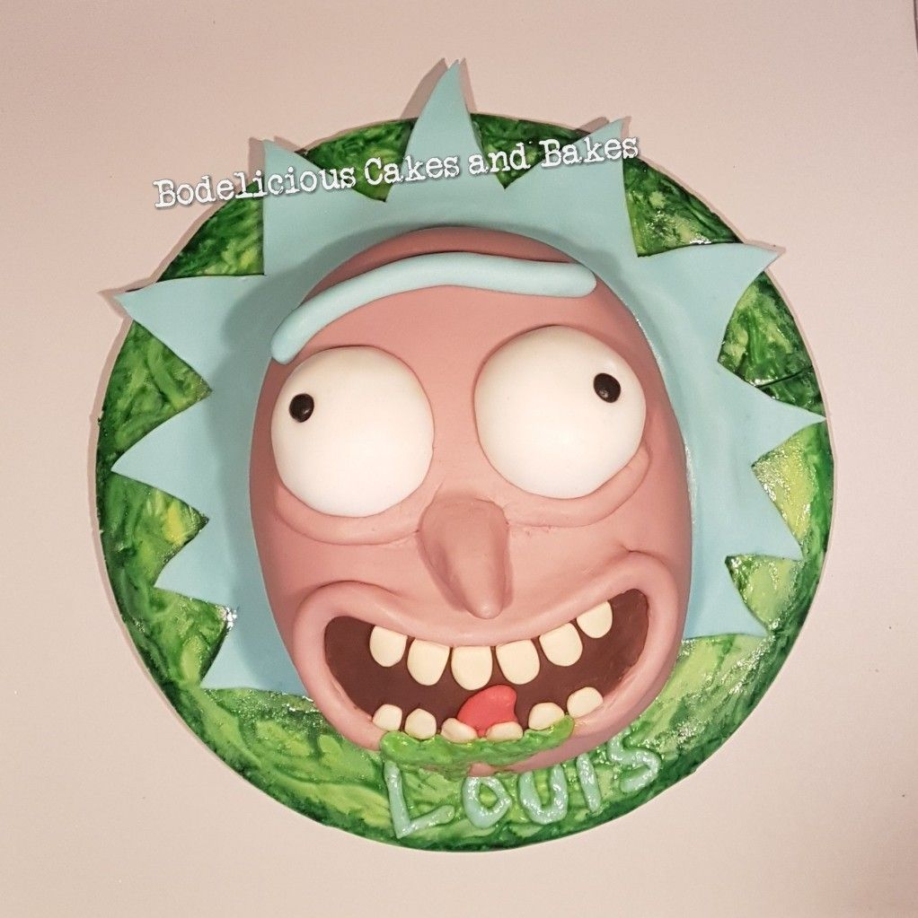 Rick And Morty Cake By Bodelicious Cakes And Bakes Rick And