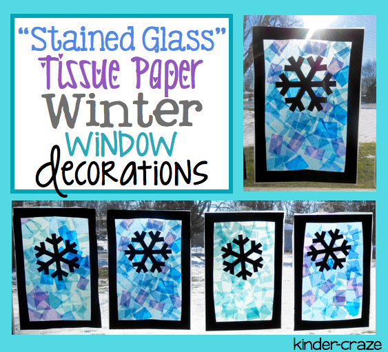 Paper Tissue Snowflake Christmas Decorations By Pearl And: Festive Winter Window Decor And A Freebie