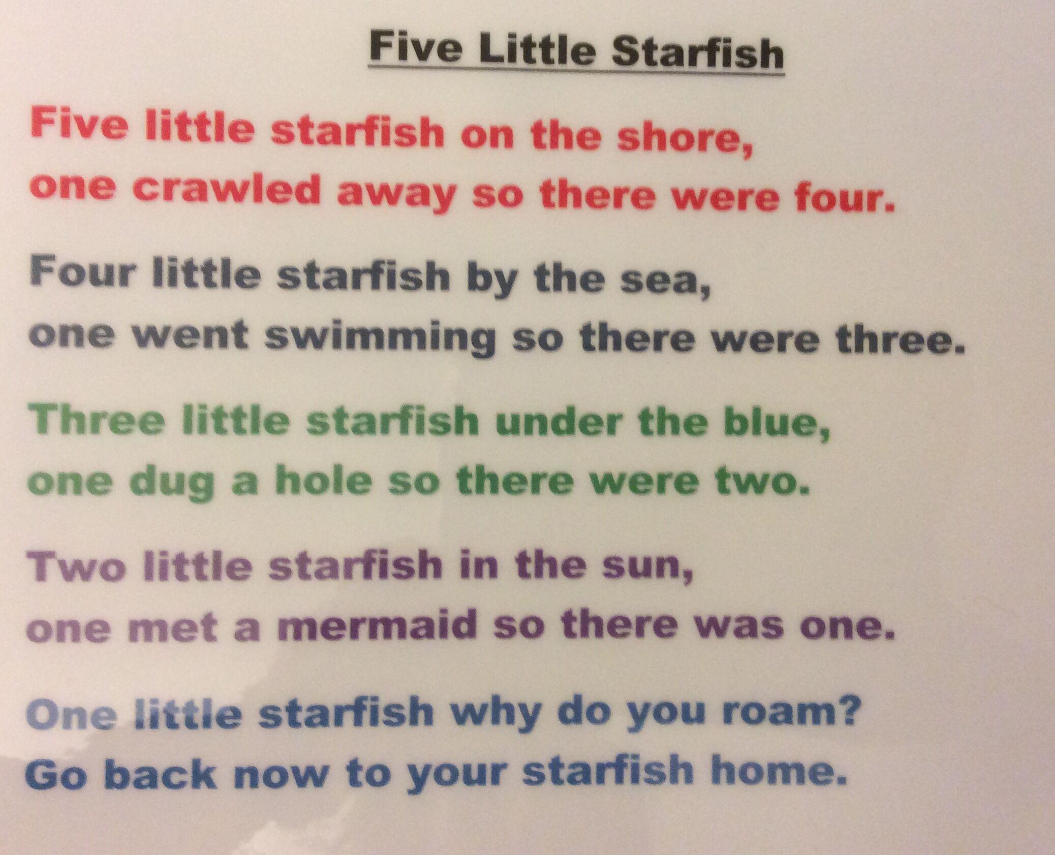 Five Little Starfish