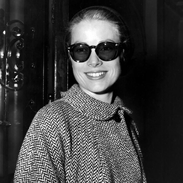 On the day she would have turned 85, take a look back at the inimitable style of movie star-turned-princess Grace Kelly  Compiled by Bibby Sowray --------------------------------- In a Herringbone coat and oversized sunglasses in 1956