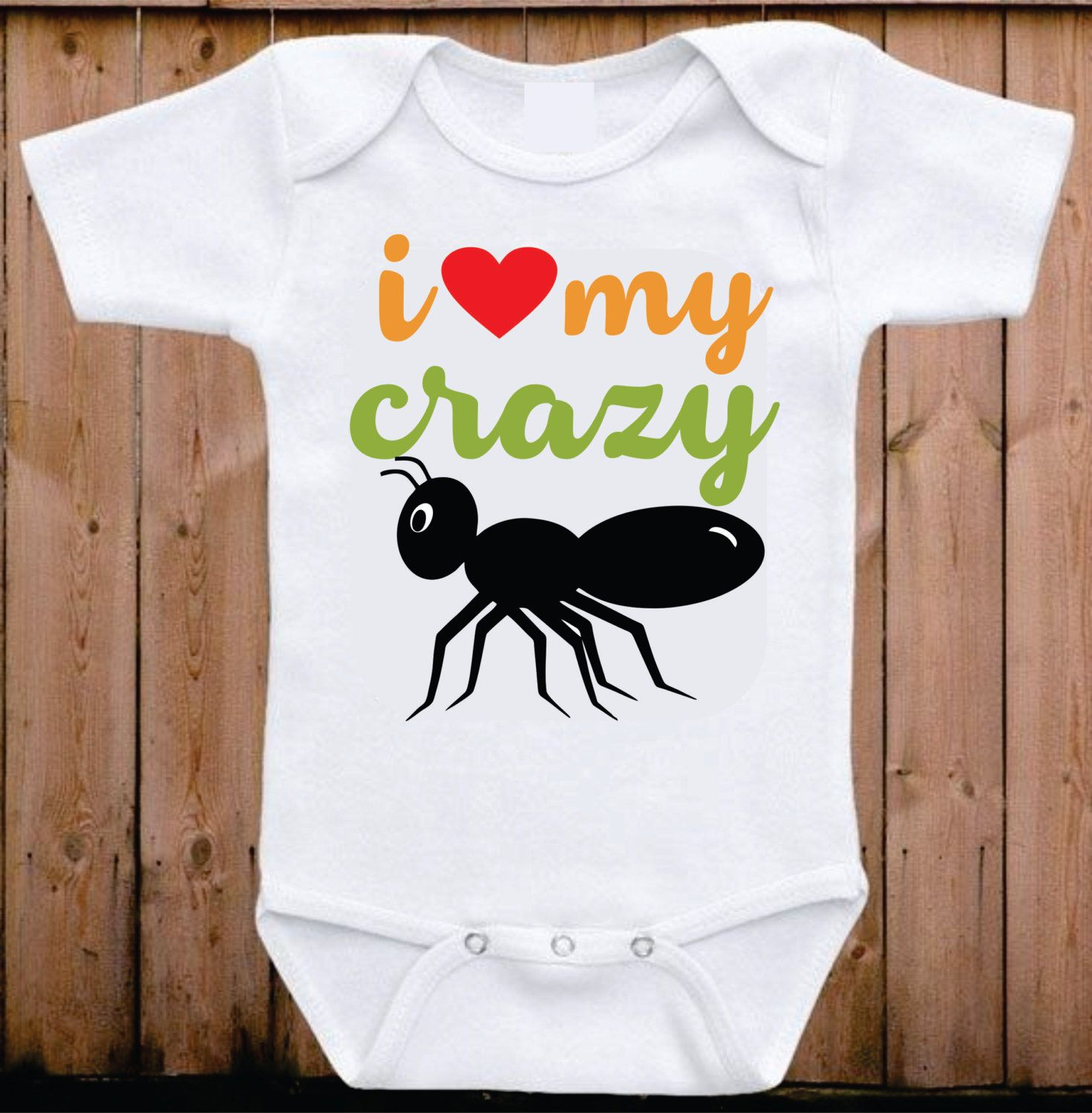 a90d6233 I love my crazy Aunt baby onesie My Aunt loves me I love my Aunt onesie  Auntie Shirt Funny Onesie Baby shower gift Unisex baby clothing by  mkclassyprints on ...