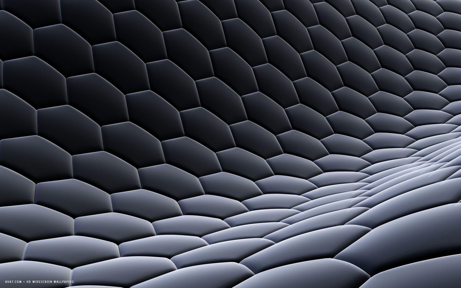 3d Hexagon Texture Fabric Steel Gray Grid Honeycomb Hd Widescreen