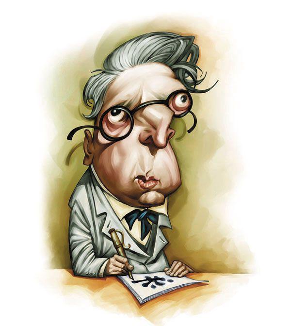 Image result for W. B. Yeats karikator