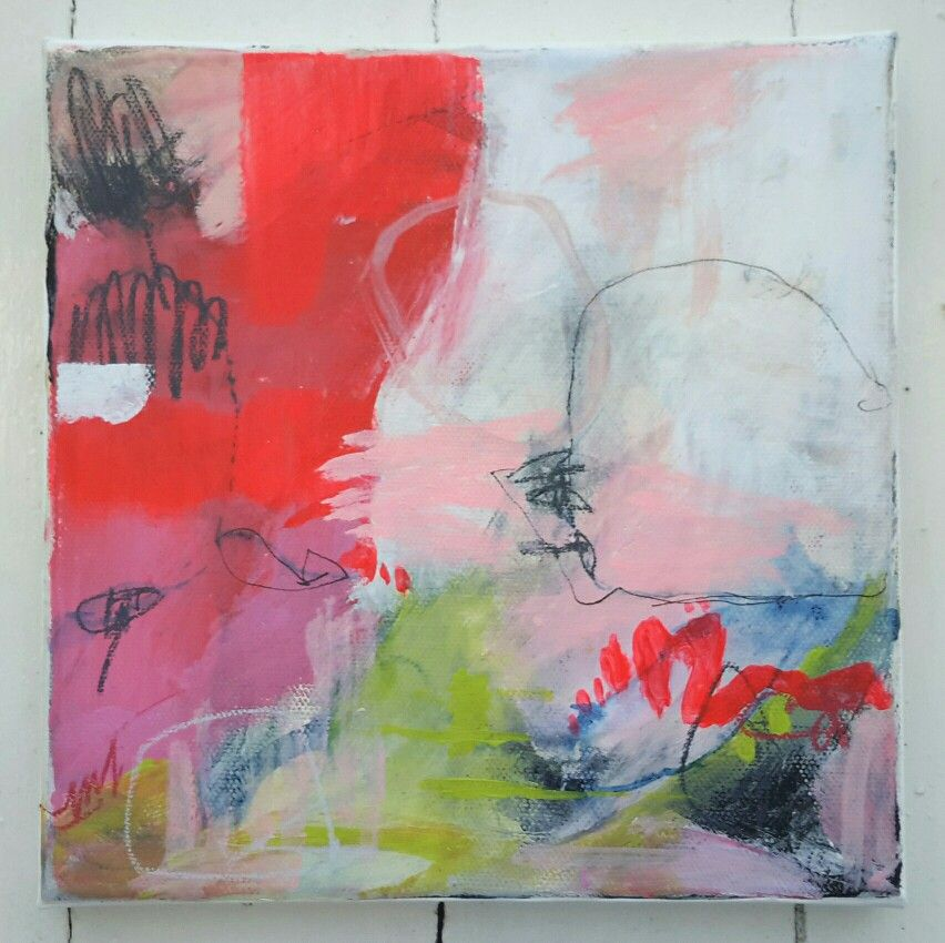 Acrylique sur toile 20 X 20 cm Sandrine Merrien