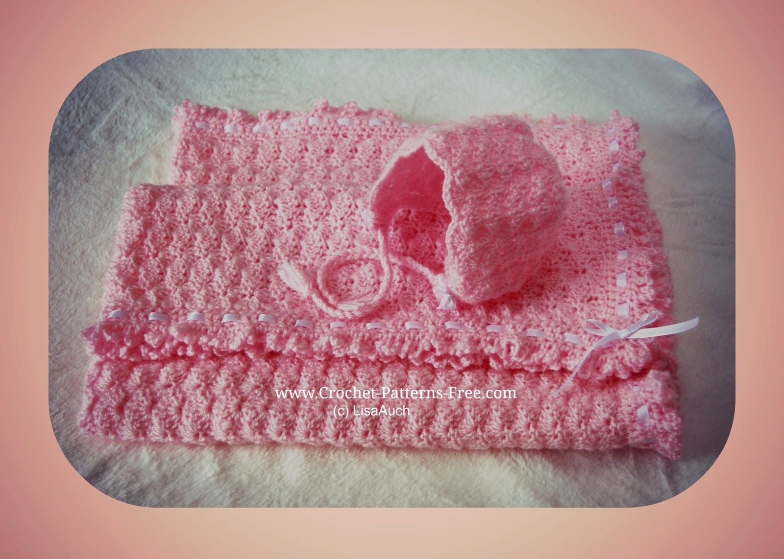 Free crochet baby blanket pattern in shell stitch free crochet free crochet baby blanket pattern in shell stitch bankloansurffo Gallery