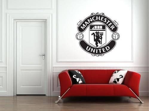 manchester united logo wall stickers | united bedroom | bedroom