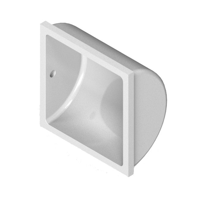 Recessed Ceramic Tile In Subway Tile Toilet Paper Holder 6 X 6