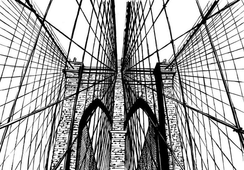 brooklyn bridge coloring pages - photo#15