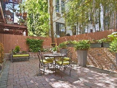 east village apartment rental - garden duplex patio | new york, Innenarchitektur ideen