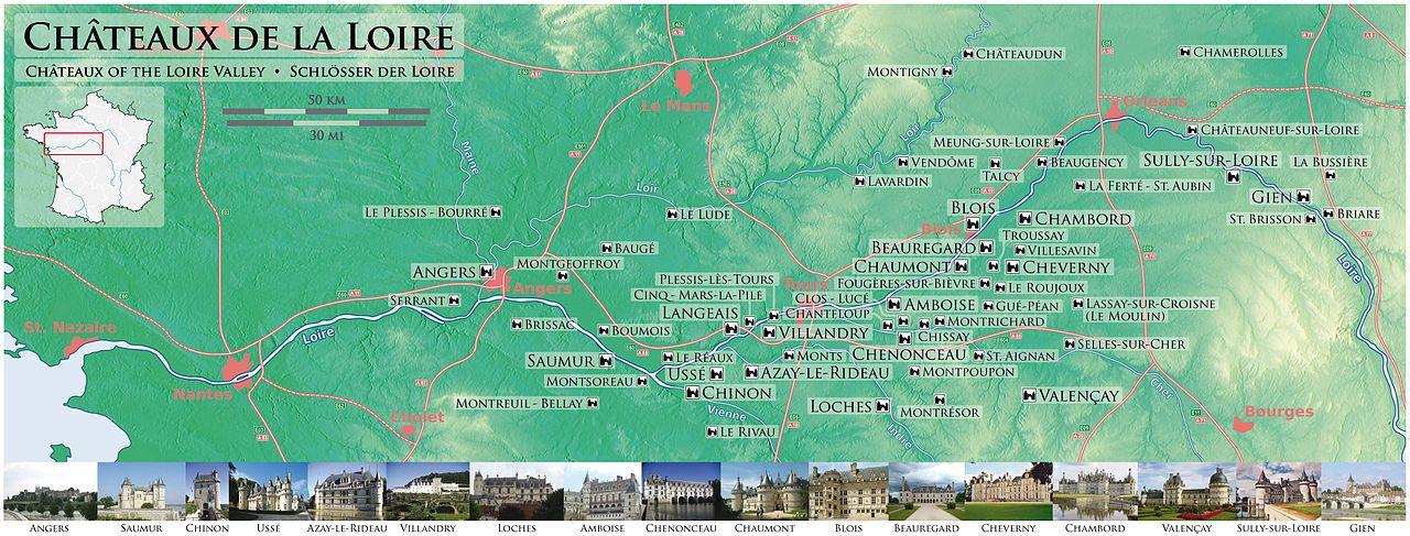 Carte Des Chateaux De La Loire Chateau De La Loire Loire