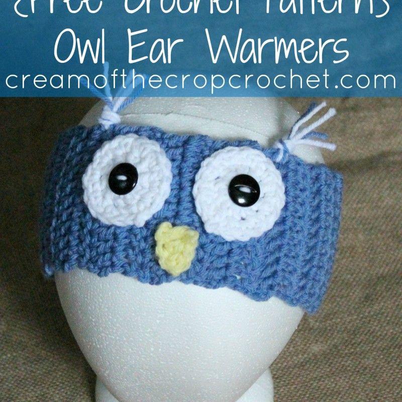 Owl Patrón de los calentadores del oído | crochet | Pinterest | Los ...
