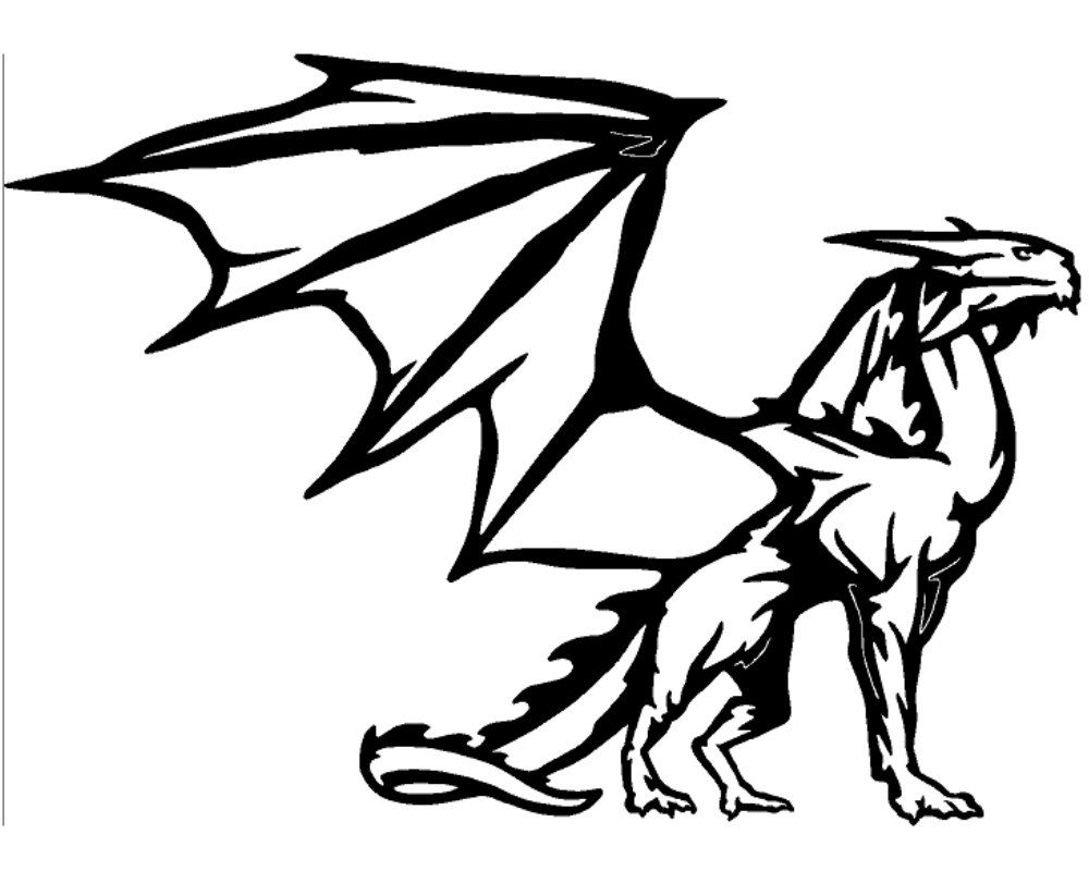 Medieval Flying Dragon Vinyl Window Decal Stickers Wholesale - Custom vinyl wall decals dragon