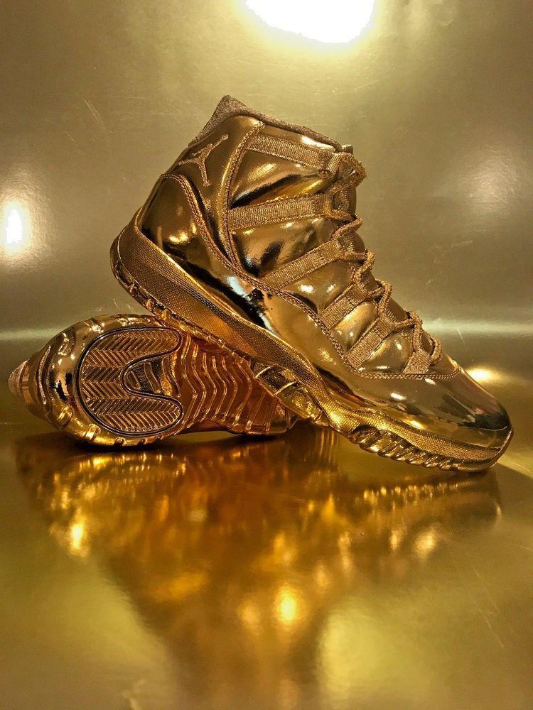 Gold Air Jordan 11 Retro Custom 24k
