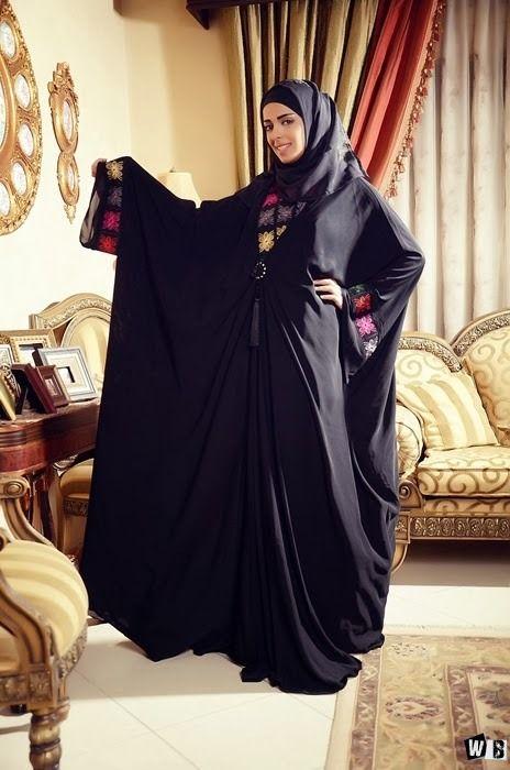 عبايات دبي 2015 صور عبايات 2015 خليجية سوداء اجمل عبايات خليجيه Abaya Designs Abaya Fashion Islamic Clothing