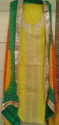 02b7ea000e Rajasthani Gota Patti work Suits: Jaipur Gota Patti work wholesale heavy  suits for .