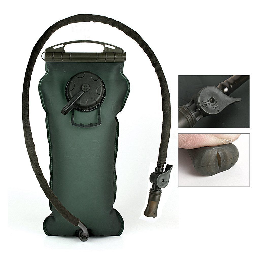 3L Hydration System Reservoir Antimicrobial Leakproof ON/OFF Button Bite Valve Water Bladder Bag -- Review more details here : Backpacking gear