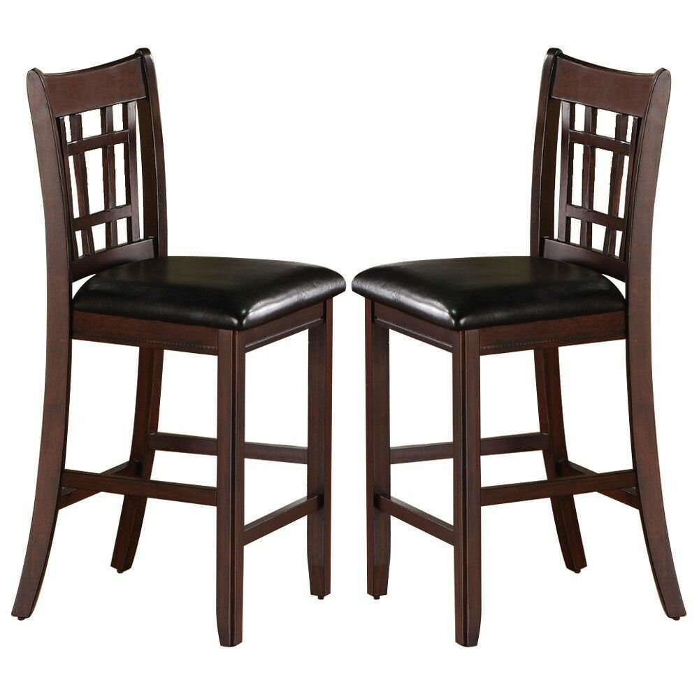 Details About Set Of 2 Lavon 24 Inch Counter Height Bar Stools