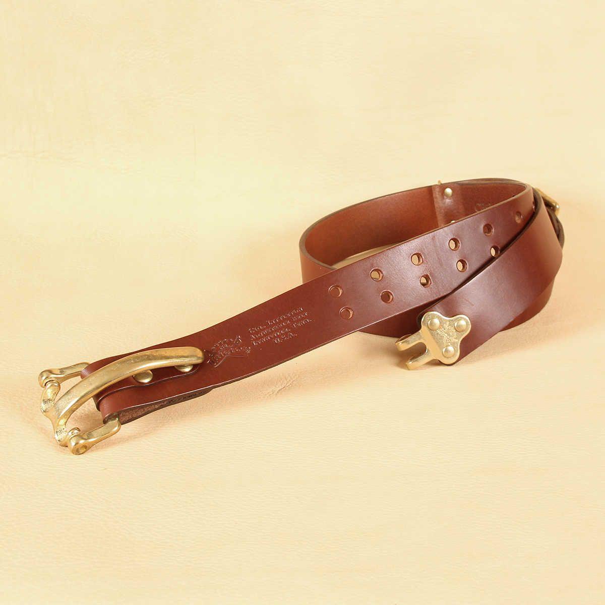 Handmade Leather Cinch Belt No 5 Adjustable Usa Made Col Littleton Kemer