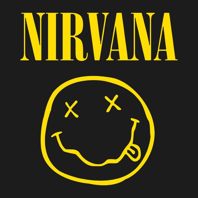 Nirvana T Shirt Smiley Face Logo One Sided Nirvana T Shirt