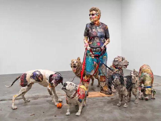Impressive Paper Mache Sculptures of Dogs Gone Wild | Junkculture