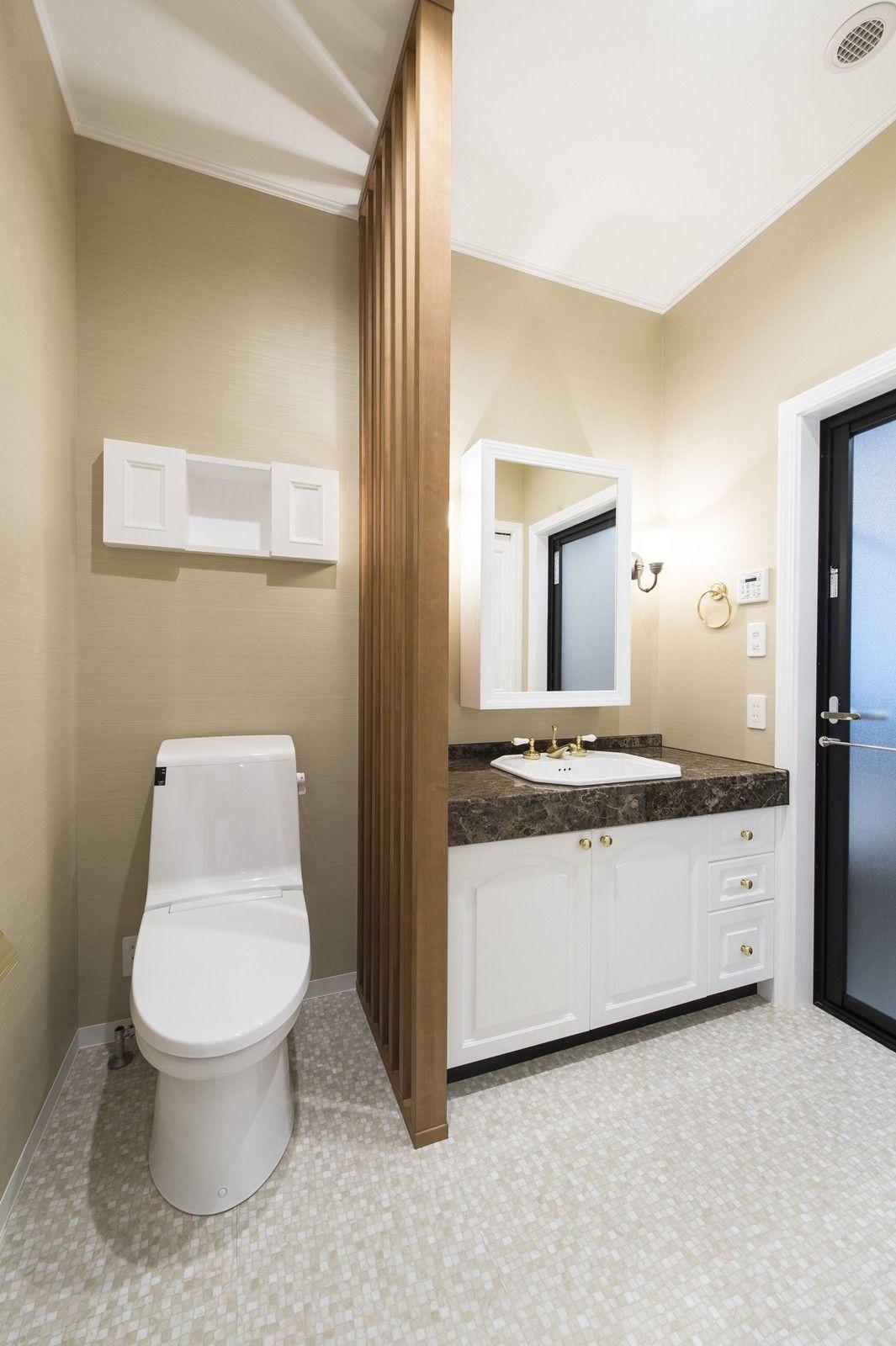 施工事例 リノベーション トイレ 洗面化粧室 輸入住宅 輸入