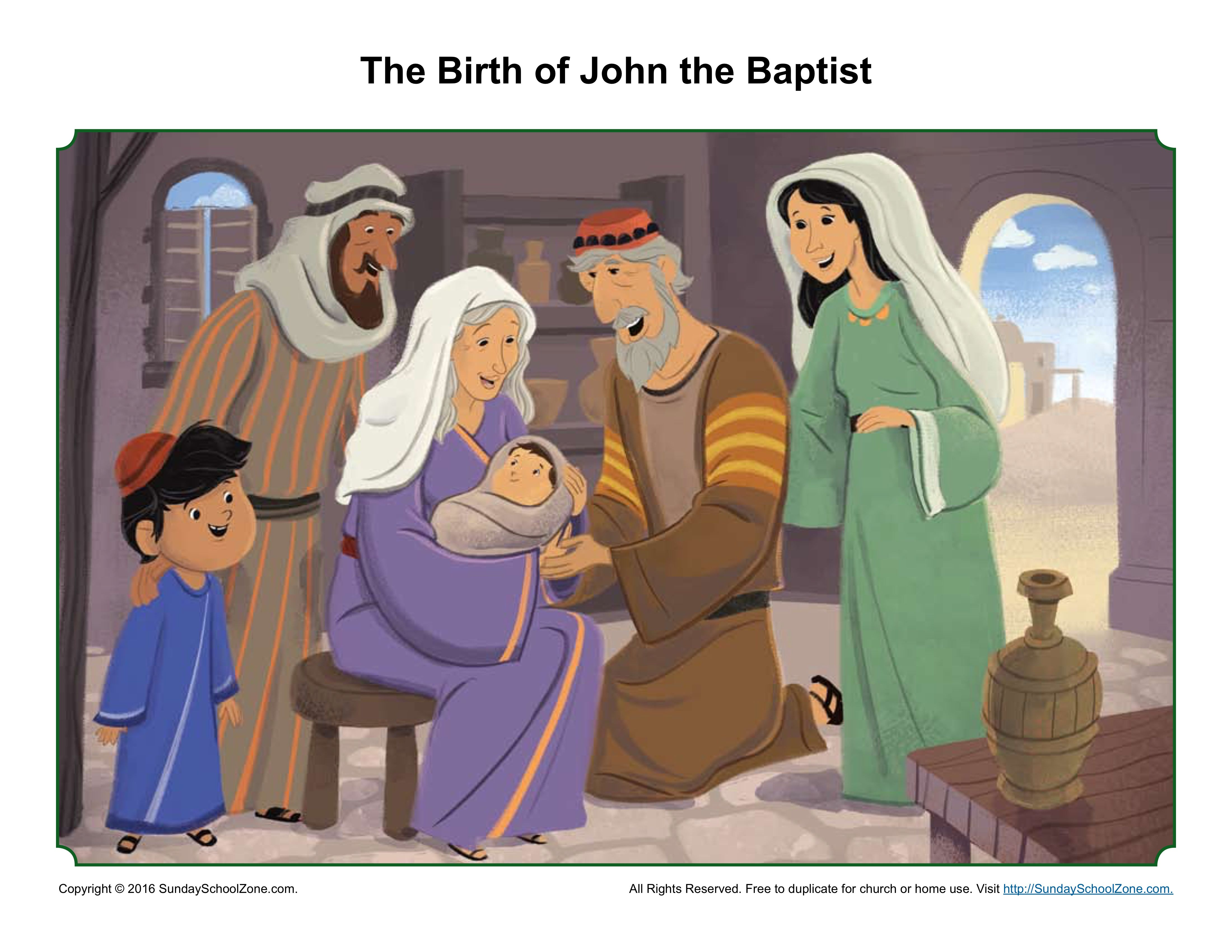 The Birth Of John The Baptist Sermon Picture