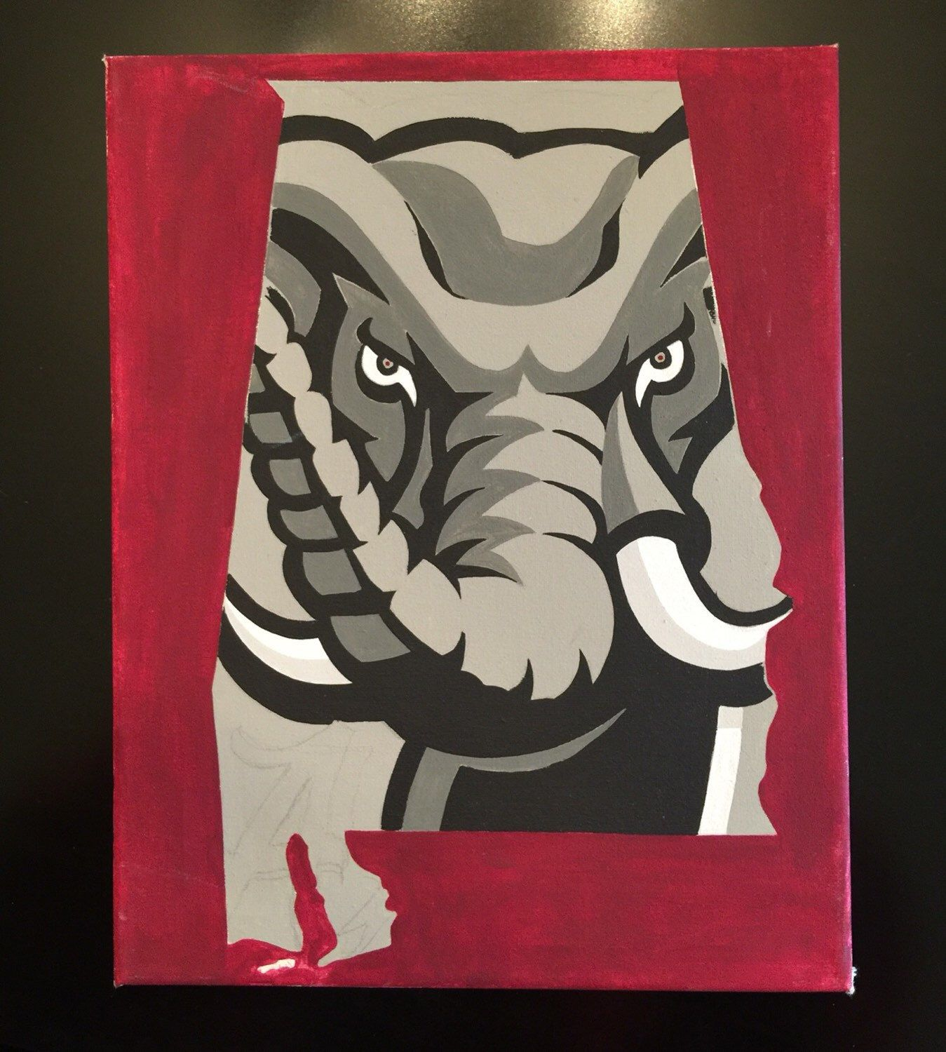 Roll Tide State Silhouette Still In Progress Alabama Crimson Tide Football Wallpaper Football Paintings Painting Crafts