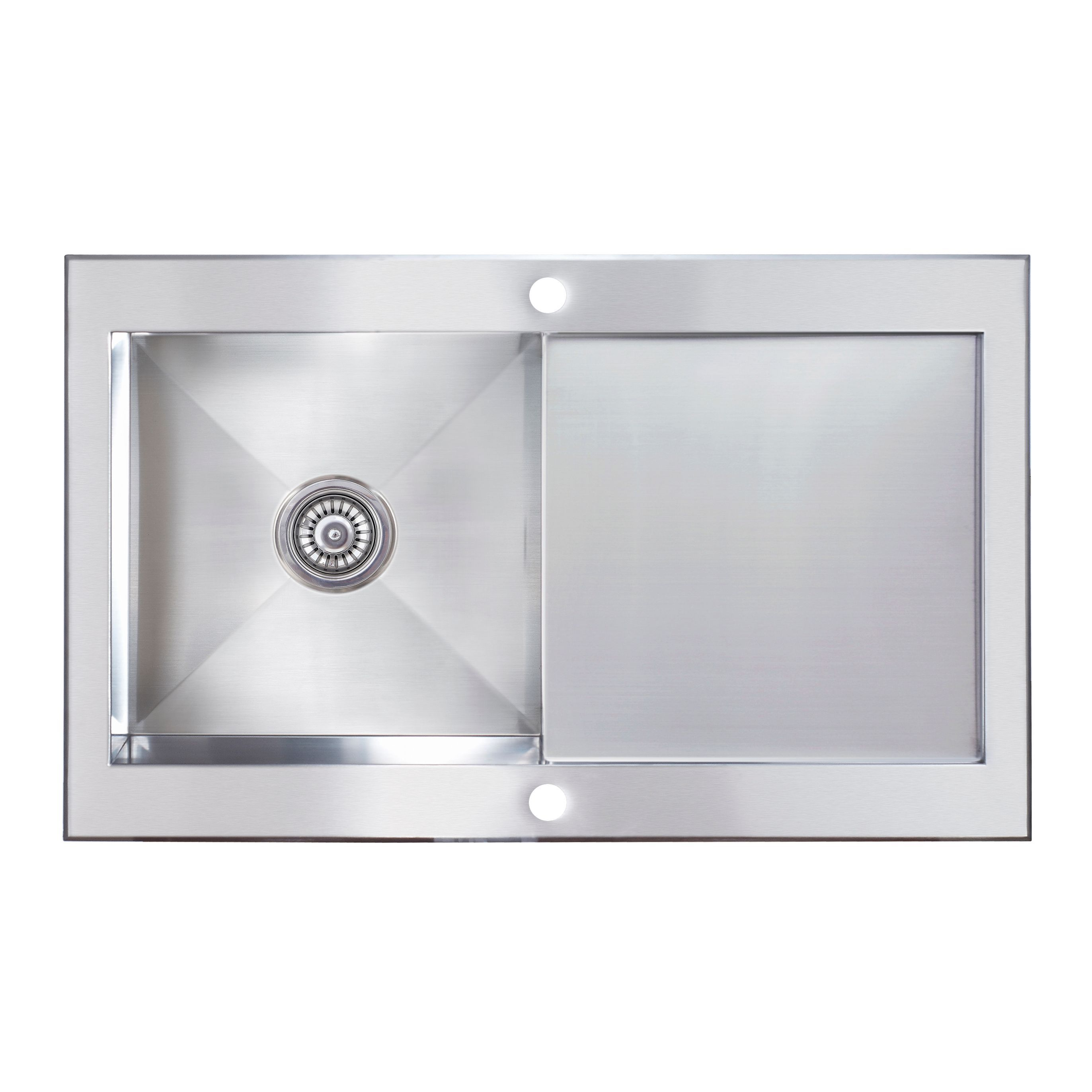 Cooke & Lewis Unik 1 Bowl Stainless Steel Sink with Reversible ...