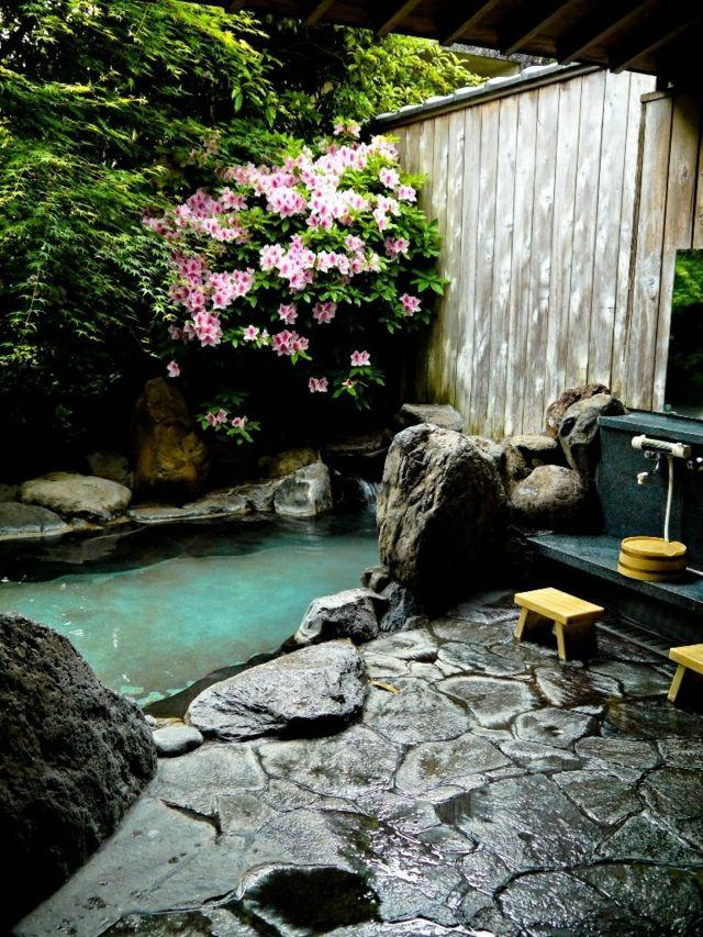 Zen japanischen Garten gestalten künstlich Garten Stein Terrasse ...