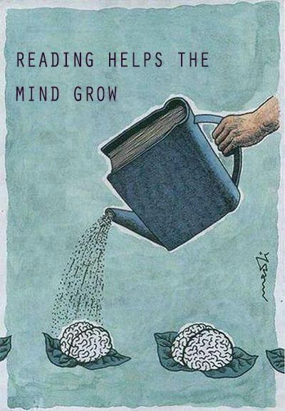 Books and mind growing