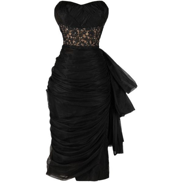Vintage 1950's Lilli Diamond Black Chiffon Cocktail Dress (€585) ❤ liked on Polyvore featuring dresses, robes, vestidos, vintage chiffon dress, vintage dresses, chiffon rosette dress, rosette dress and diamond dress