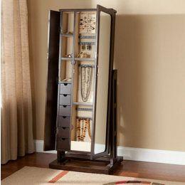 Mirrored+jewelry+armoire+free+standing | Full Length Mirror Jewelry Cabinet  U2013