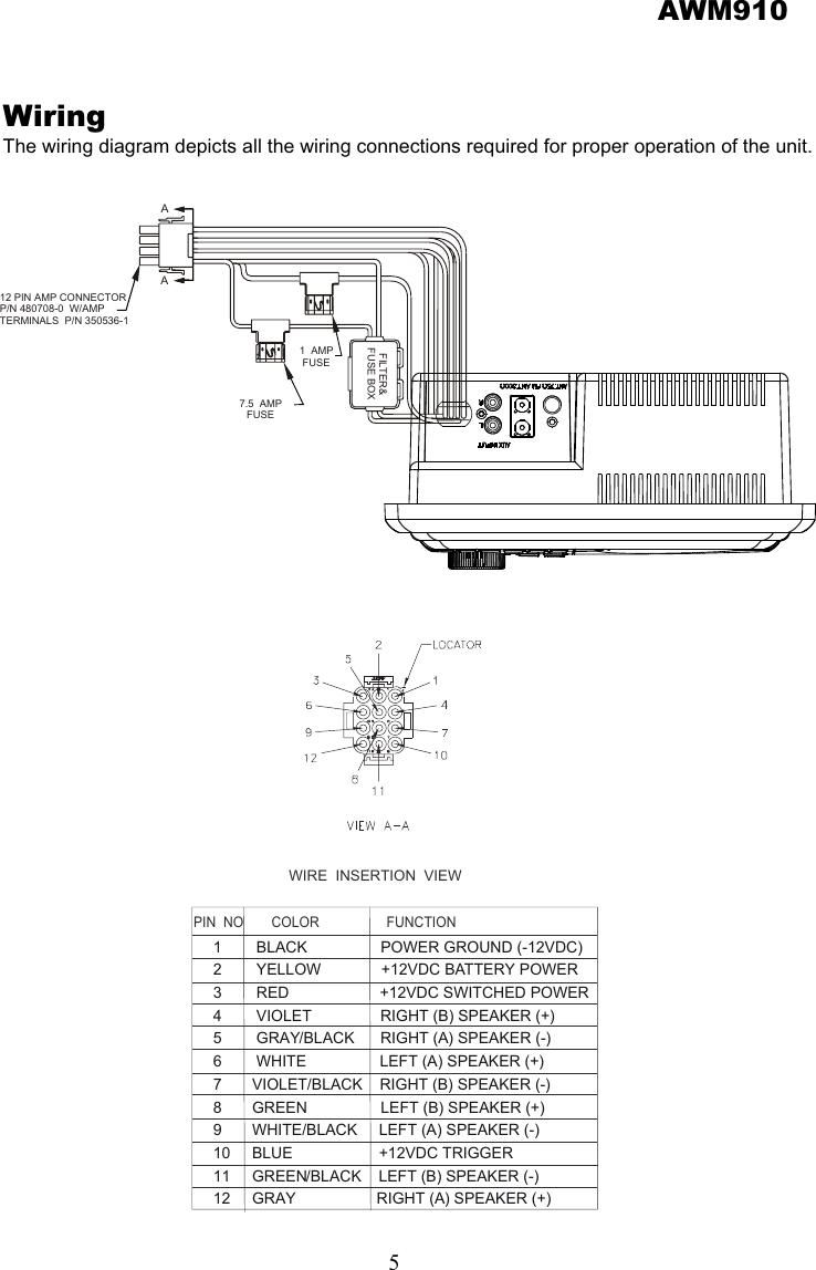 jensen radio wiring diagrams awm910 - Google Search | Diagram, Fuse box,  The unitPinterest