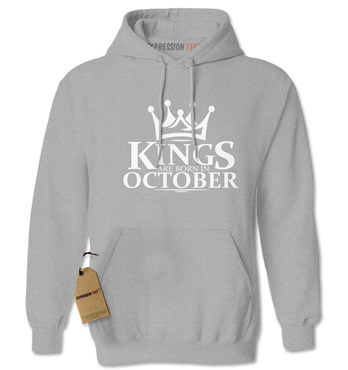 Kings Are Born In October Adult Hoodie Sweatshirt