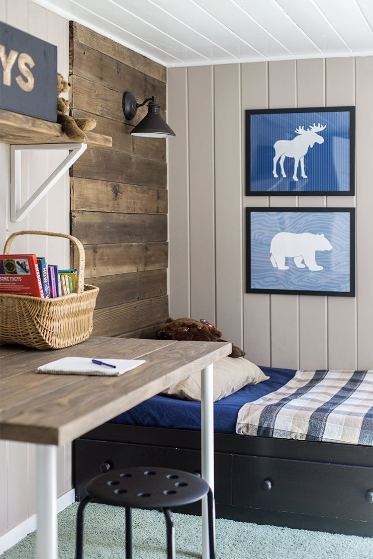 Budget boy s room makeover the reveal room kids rooms and budgeting - Boys basement bedroom ...