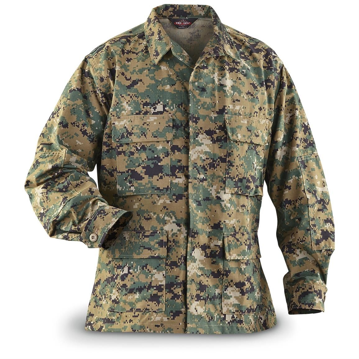 HQ ISSUE Men s Military-Style Digital Woodland Camo BDU Shirt ... 5f861d90d83