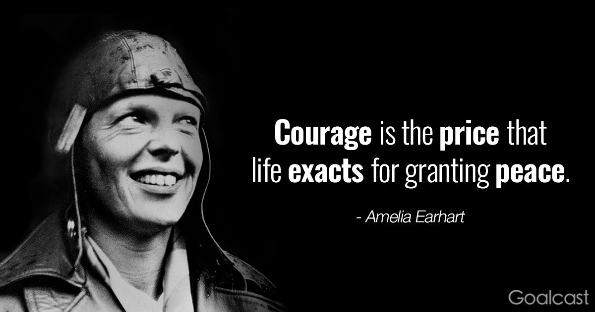 Amelia Earhart Quotes Impressive Amelia Earhart Quotes  Courage Is The Price That Life Exacts For