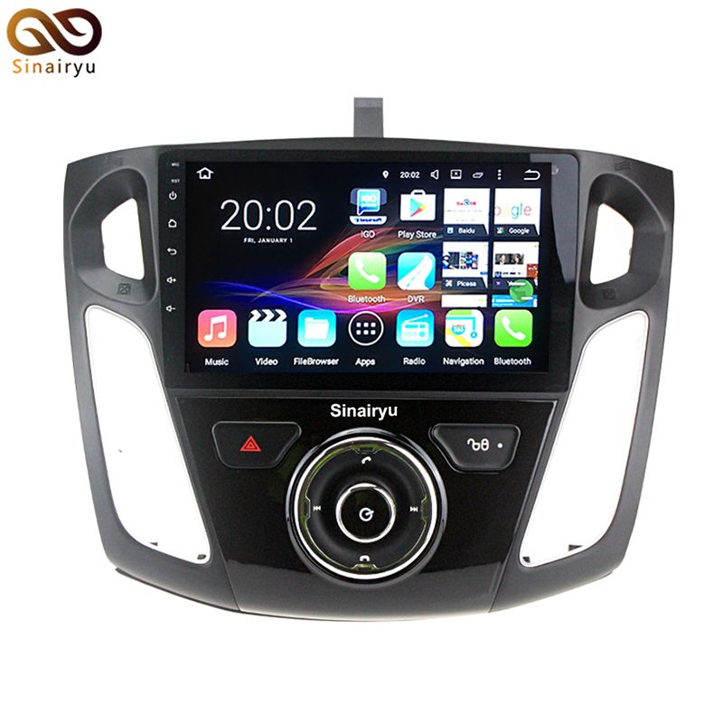 Hd 9 Inch 64 Bit Cpu 2gb Ram Android 7 1 Car Pc Head Unit Dvd Player For Ford Focus Focus3 2012 2015 With Gps Navi D Car Electronics Car Dvd Players Ford Focus