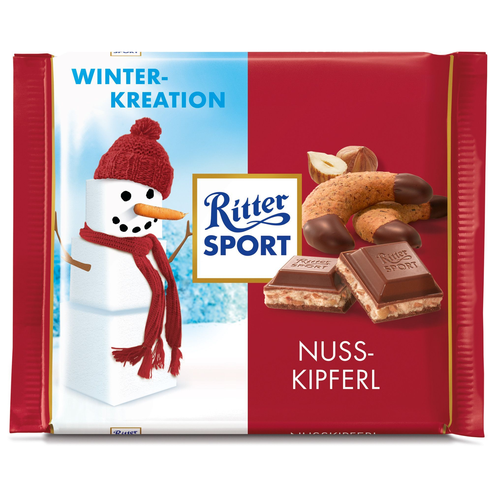 in USA Ritter Sport Winter Creations Hazelnut Cream
