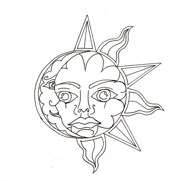 Sun and Moon Drawing Tumblr | Sun and Moon by scammyauty ...