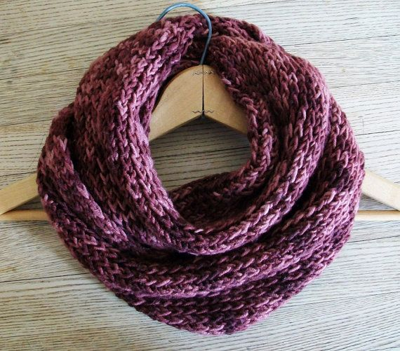 Easy Kntting Pattern Chunky Circle Scarf Pinterest Knit Scarf