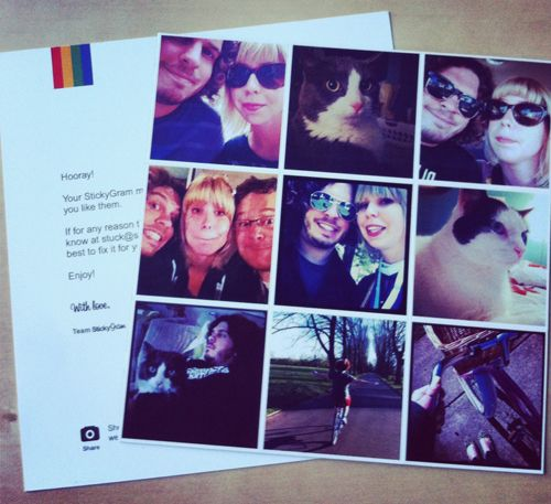 Stickygrams: turn your Instagram photos into magnets.